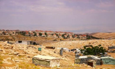 A Palestinian Bedouin encampment (archive image from UNRW)
