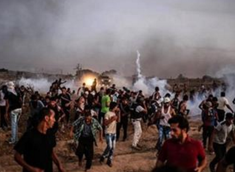 Al-boreij protest (File - Maan Images)