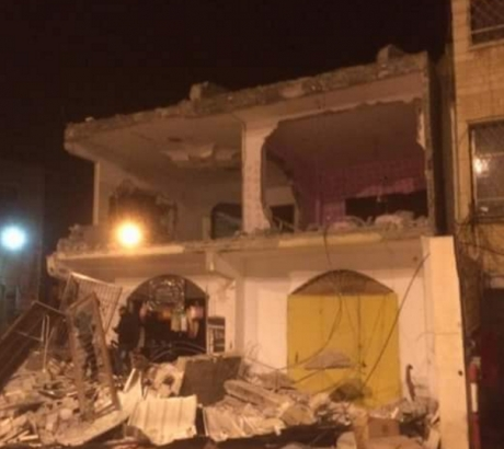 Demolished home in Qabatia