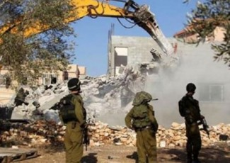 Home demolition near Nablus