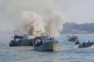 Fishing boat - File photo - Quds News