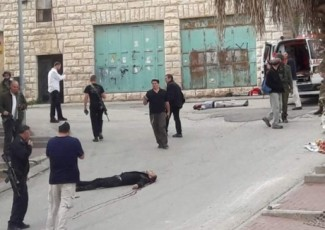 Hebron assassination (image from video of the event)