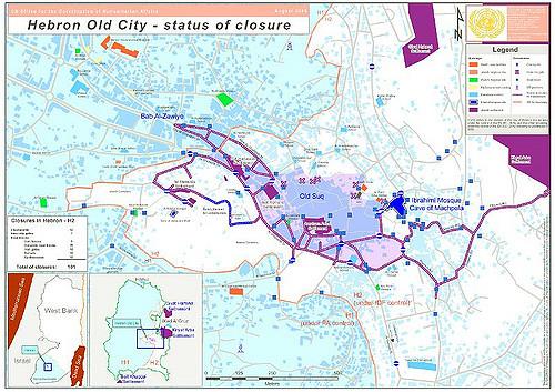 Tal Rumeida Hebron map IMEMC News