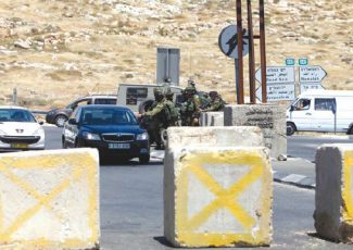 Checkpoint established at Hezma town (PCHR image)