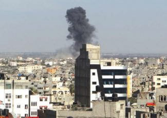 Airstrike this week in Rafah (PCHR image)