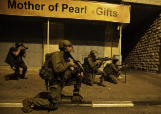 Soldiers shoot at al-Azza (image from mondoweiss)