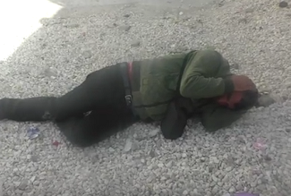 Videographer attacked in Hebron (image from video by B'Tselem)