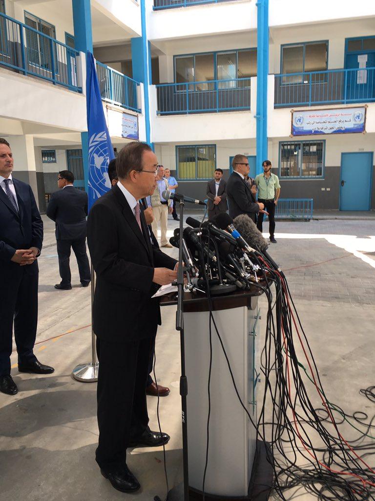 Ban ki-Moon in Gaza (image from UN)