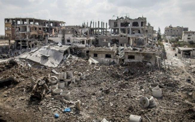 Sheja'eyya after Israeli bombardment, 2014