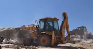Demolition in Susiya