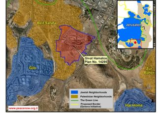 Location of Israeli settlement Givat Hamatos