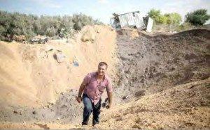 Result of Israeli airstrike in Gaza Strip (PCHR image)
