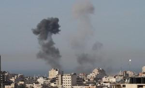 Israeli airstrike this week (PCHR image)