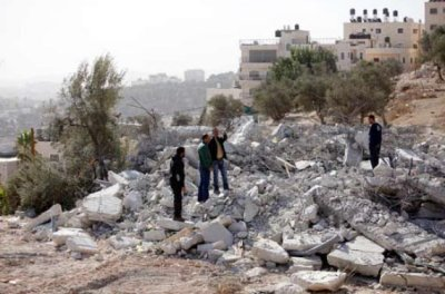 Home demolition by Israeli forces (PCHR photo)