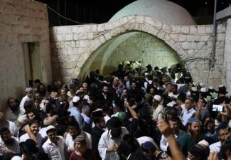 Settlers in Joseph's Tomb in 2013 (image from The Iran Project)