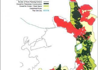 Zoning map of East Jerusalem