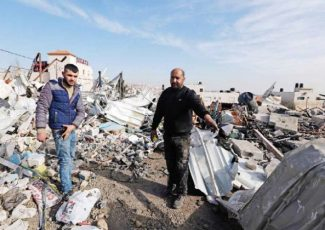 Palestinian home destroyed by Israeli army (PCHR photo)