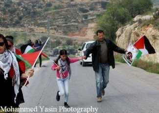 Teargas in Bil'in (image by Mohammad Yassin)