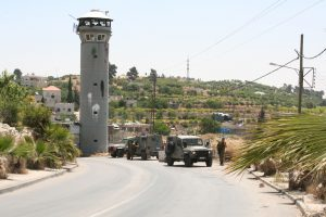 Military at Beit Ummar village (image from Palestine Solidarity Project)