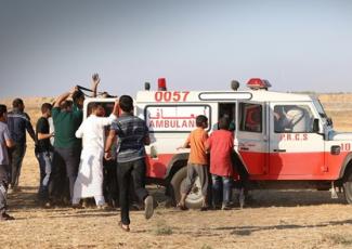 Jabalia protest (image by Ma'an)