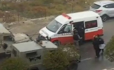Israeli forces detain 2 Palestinian teeange girls at gunpoint from ambulance