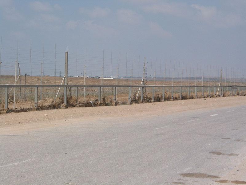 Fence between Gaza and Israel