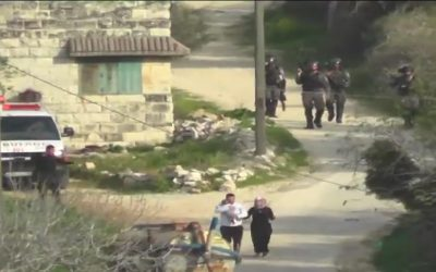 Israeli Soldiers Fire Grenade at Couple Holding a Baby