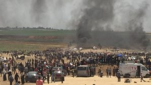 Protest east of Gaza City (PCHR image)