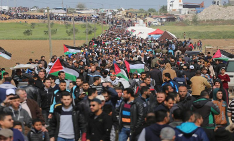 IDF: 5500 Palestinians protesting along border, some throwing rocks