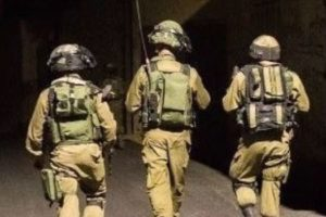 Israeli troops in a night raid (archive image)