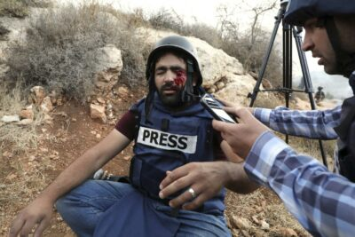 Israeli attack on journalist in Gaza (archive image)a