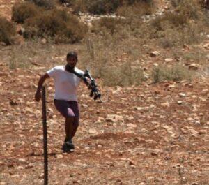 Israeli Colonists Plow Palestinian Lands Near Nablus