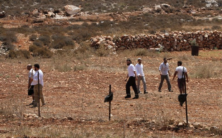 Israeli settlers invade Burin (archive image - from Wafa)