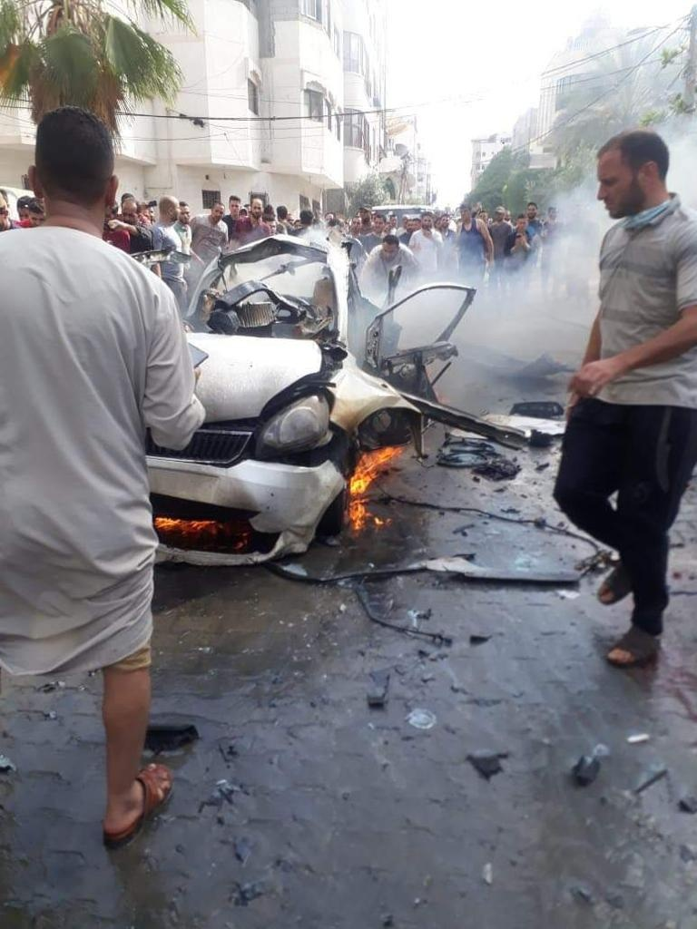Effect of airstrike (Image from Ma'an)