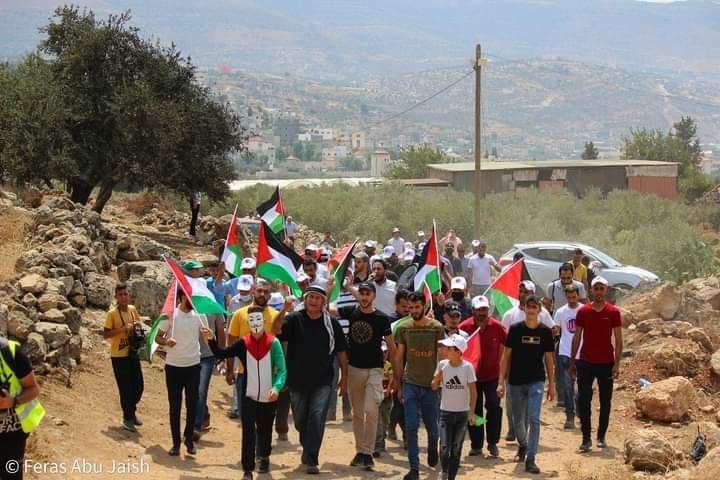 Protest in Beita (image by Feras Abu Jaish)