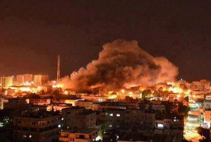 Israeli Air Force Fires Missiles Targeting Different Areas In Gaza