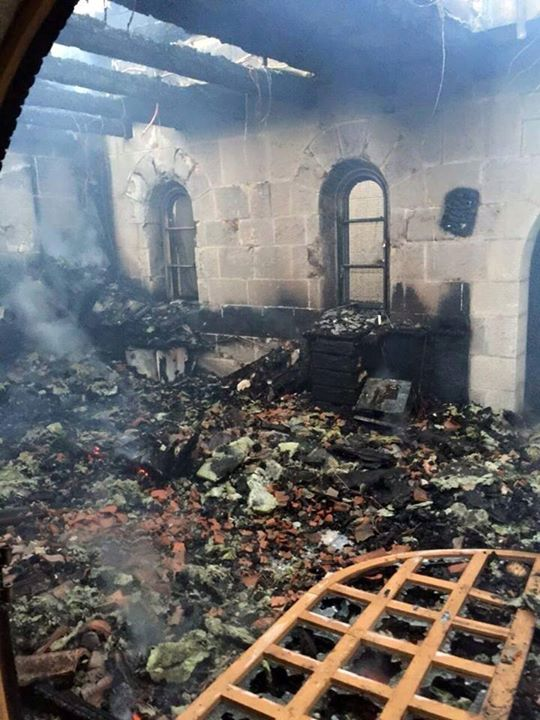 Israeli extremists burn the church where Jesus multiplied loaves and fishes